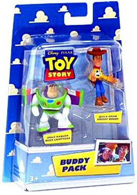 Toy Story Buddy Pack Quick-Draw Sheriff Woody & Space Ranger Buzz Lightyear Mini Figure 2-Pack