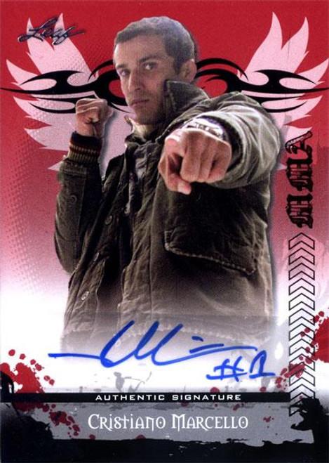 MMA Series 2010 Cristiano Marcello Autograph Card AV-CM1