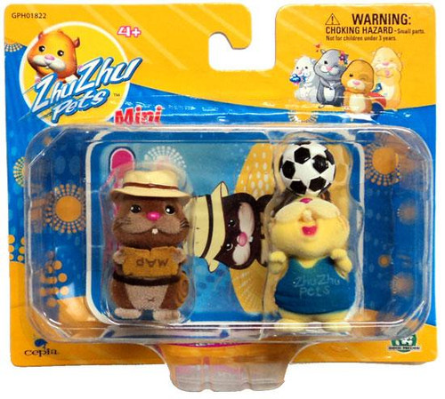 Zhu Zhu Pets Scoodles & Pipsqueak Mini Figure 2-Pack