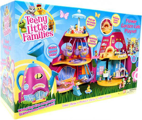 Teeny Little Families Flower Garden Cafe Playset