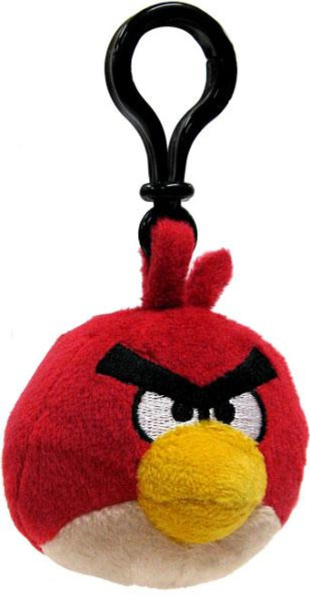 Angry Birds Red Bird 3-Inch Plush Backpack Clip