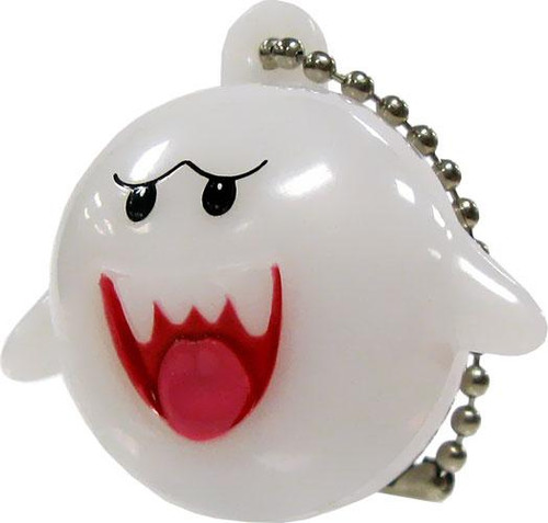 New Super Mario Bros Wii Light Up Collection 2 Boo Keychain