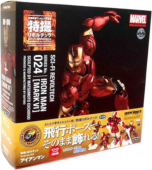 Marvel Sci-Fi Revoltech Iron Man Super Poseable Action Figure #024 [Mark VI]