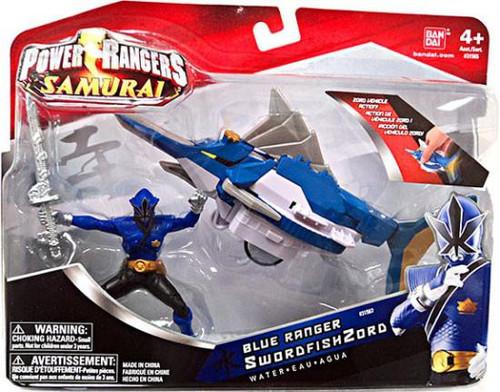 Power Rangers Samurai Blue Ranger SwordfishZord Action Figure