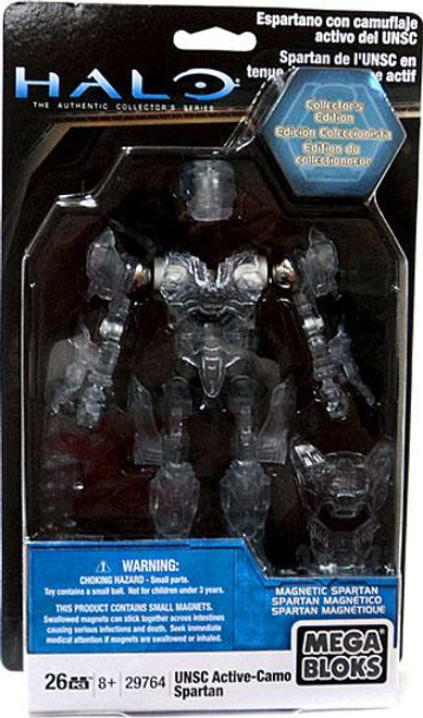 Mega Bloks Halo The Authentic Collector's Series UNSC Active-Camo Spartan Set #29764