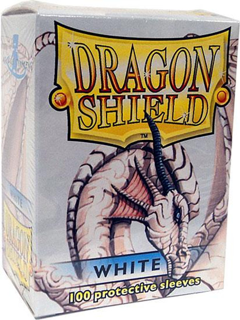 Card Supplies Dragon Shield White Standard Card Sleeves [100 ct]
