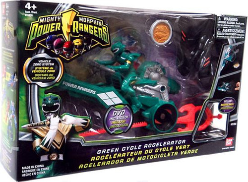 Power Rangers Mighty Morphin Green Cycle Accelerator Action Figure Vehicle