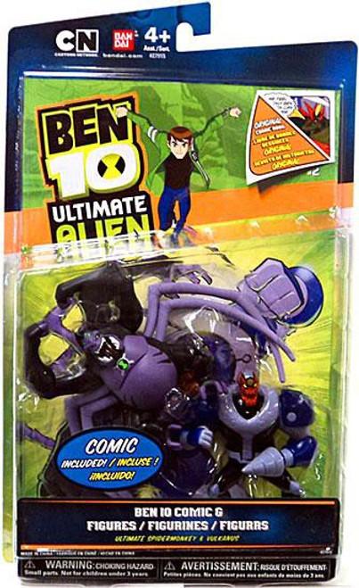 Ben 10 Ultimate Alien Comic Book Series Ultimate Spidermonkey & Vulkanus Exclusive Action Figure 2-Pack