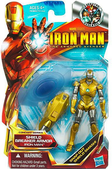 The Armored Avenger Concept Series Shield Breaker Armor Iron Man Action Figure #1