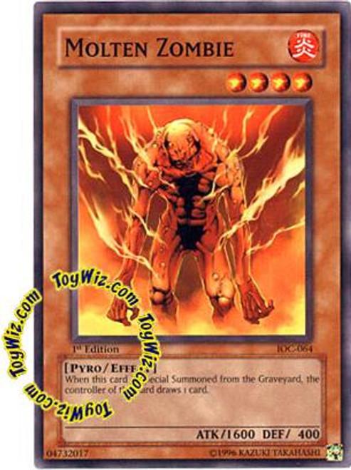 YuGiOh Invasion of Chaos Common Molten Zombie IOC-064