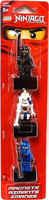 LEGO Ninjago Cole, Nuckal & Jay Magnets #853102
