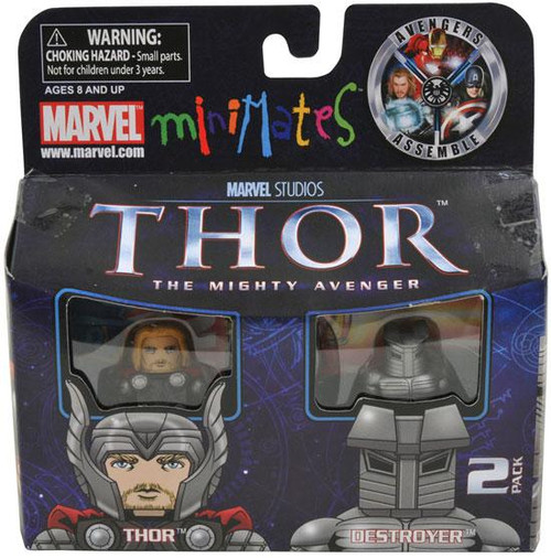The Mighty Avenger Minimates Series 39 Thor & Destroyer Exclusive Minifigure 2-Pack