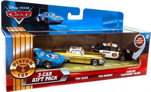 Disney Cars Multi-Packs Piston Cup 3-Car Gift Pack Diecast Car Set [Dinoco]