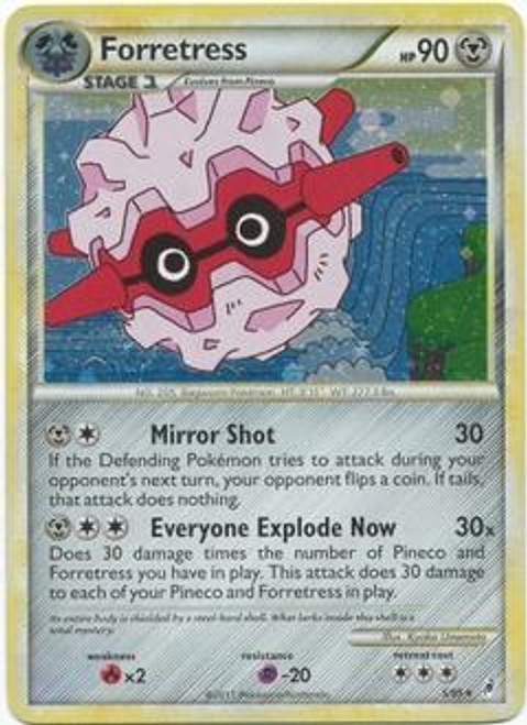 Pokemon Call of Legends Rare Holo Forretress #5
