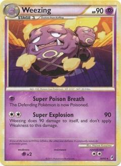 Pokemon Call of Legends Rare Weezing #38