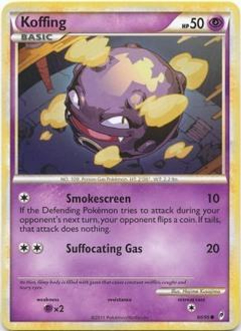 Pokemon Call of Legends Common Koffing #60