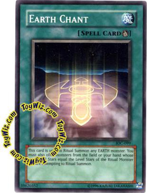 YuGiOh Invasion of Chaos Common Earth Chant IOC-099