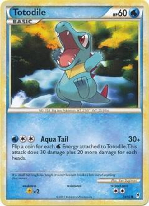 Pokemon Call of Legends Common Totodile #74