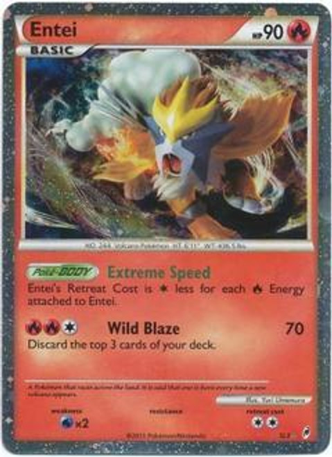 Pokemon Call of Legends Ultra Rare Holo Entei SL3