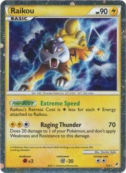 Pokemon Call of Legends Ultra Rare Holo Raikou SL9