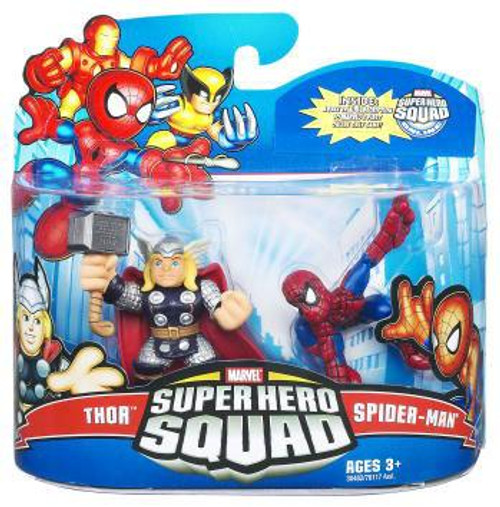 Marvel Super Hero Squad Series 21 Spider-Man & Thor Action Figure 2-Pack