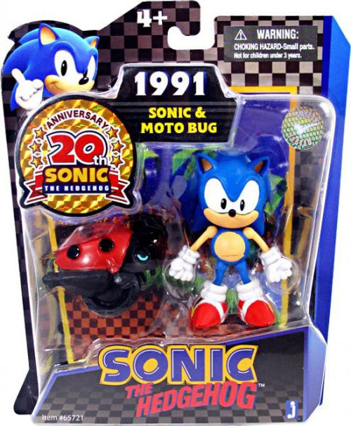 Sonic The Hedgehog 20th Anniversary Sonic & Moto Bug Action Figure 2-Pack [1991]