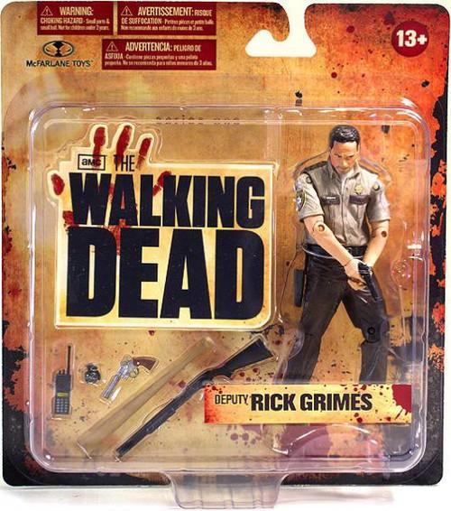 McFarlane Toys Walking Dead AMC TV Series 1 Deputy Rick Grimes Action Figure