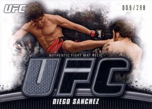 UFC 2010 Knockout Gold Mat Relic Diego Sanchez FM-DS