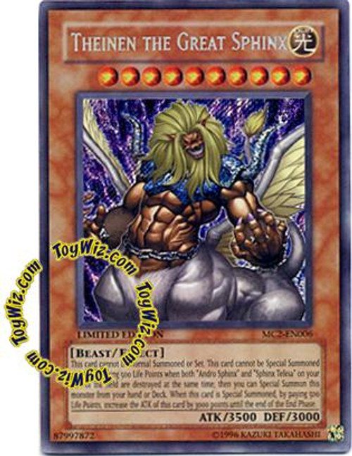 YuGiOh Master Collection 2 Secret Rare Theinen the Great Sphinx MC2-EN006