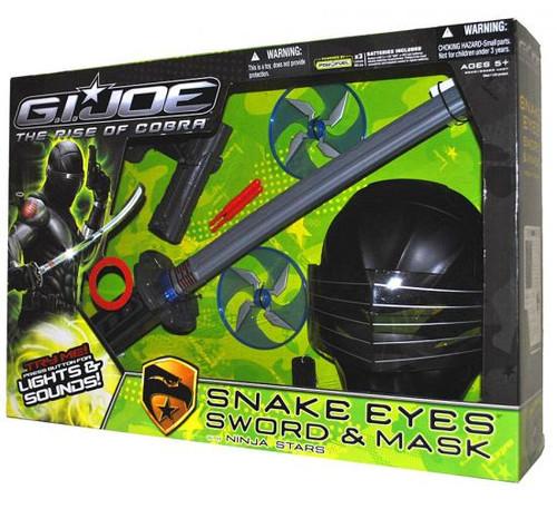 GI Joe The Rise of Cobra Snake Eyes Sword & Mask Roleplay Toy