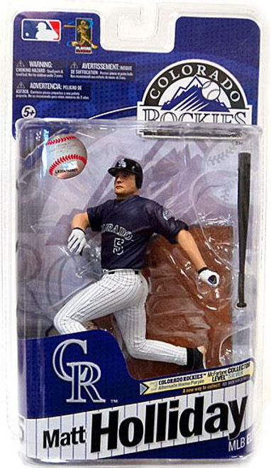 McFarlane Toys MLB Colorado Rockies Sports Picks 2011 Elite Series Matt Holliday Action Figure [Purple Jersey]