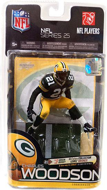 McFarlane Toys NFL Green Bay Packers Sports Picks Series 25 Charles Woodson Action Figure [Green Jersey]