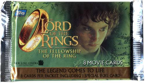 The Lord of the Rings The Fellowship of the Ring Trading Card Pack [European Edition]