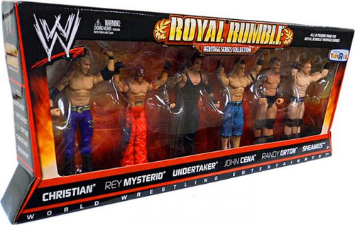 WWE Wrestling Playsets Royal Rumble Heritage Series Collection Exclusive Action Figure Set