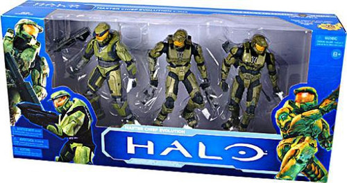 McFarlane Toys Halo 10th Anniversary Boxed Sets Master Chief Evolution Action Figure Set