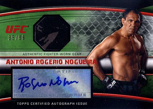 UFC 2010 Knockout Autograph Relic Antonio Rodrigo Nogueira AFG-ARN