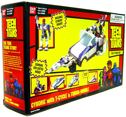 Teen Titans Go! Cyborg with T-Cycle and Turbo Mobile Vehicle Set