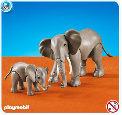 Playmobil Zoo 1 Large and 1 Small Elephant Set #7995