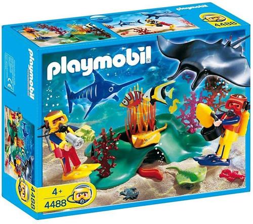 Playmobil Adventure Divers In Tropical Reef Set #4488