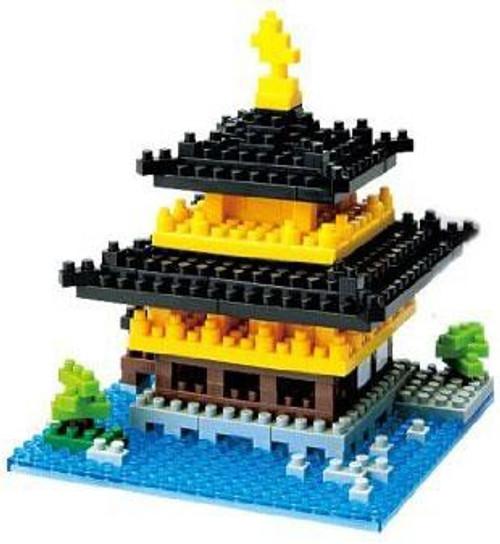 Nanoblock Micro-Sized Building Block Kinkaku-ji Figure Set