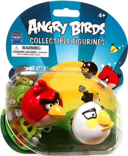 Angry Birds Collectbile Figurines Red Bird & White Bird Figure 2-Pack