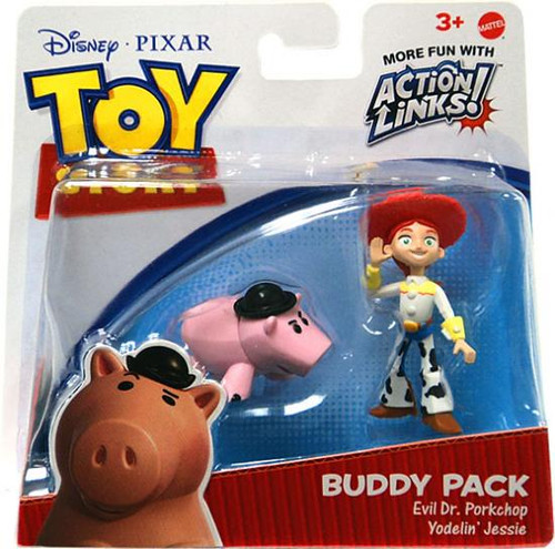 Toy Story Action Links Buddy Pack Evil Dr. Porkchop & Yodelin'Jessie Mini Figure 2-Pack