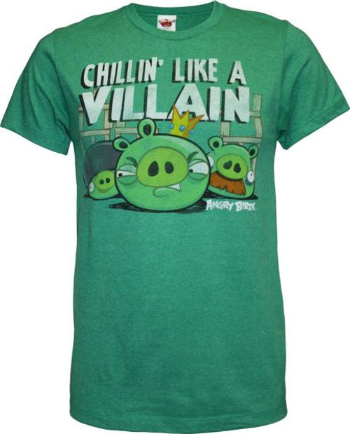 Angry Birds Chillin Like a Villain T-Shirt [Adult Large]