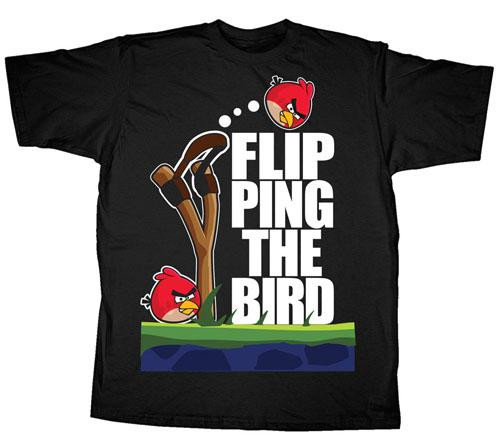Angry Birds Flipping the Bird T-Shirt [Adult]
