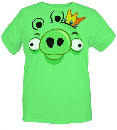 Angry Birds Pig FaceAdult T-Shirt [Small]