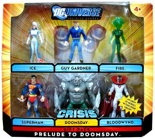 DC Universe Crisis Infinite Heroes Prelude to Doomsday Exclusive Action Figure Set