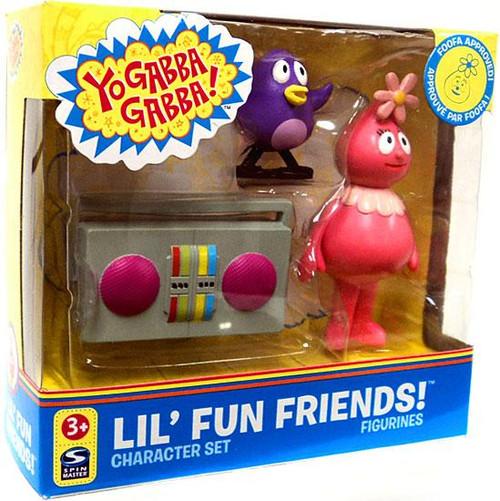 Yo Gabba Gabba Lil' Fun Friends Foofa Mini Figure Set