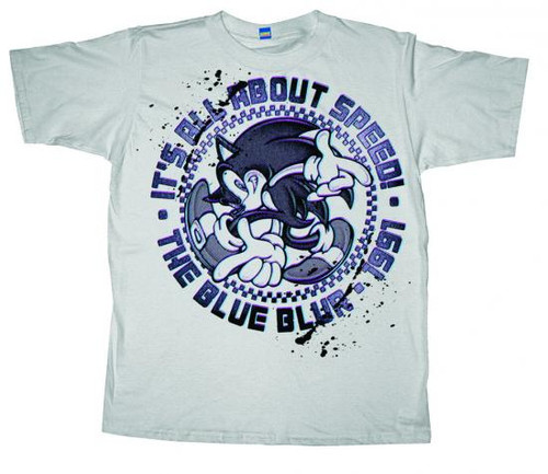 Sonic The Hedgehog All About Speed T-Shirt [Youth XL]