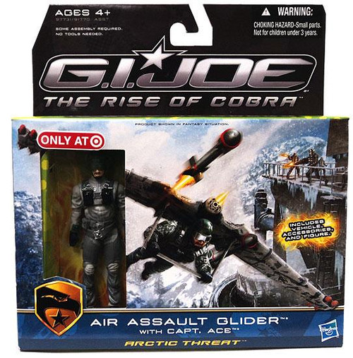 GI Joe The Rise of Cobra Air Assault Glider Exclusive Action Figure Vehicle