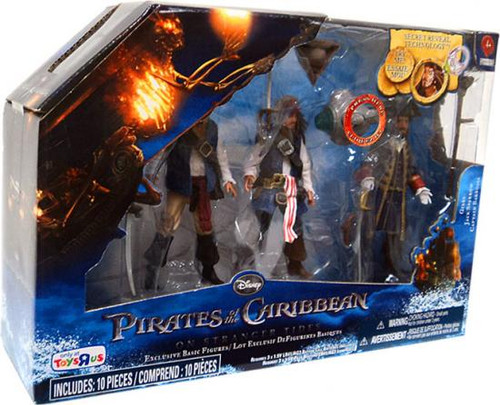 Pirates of the Caribbean On Stranger Tides Gibbs, Jack Sparrow & Captain Barbossa Exclusive Action Figure 3-Pack